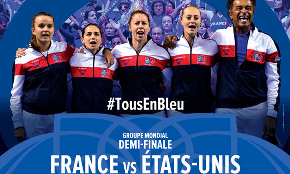 Places Fed Cup Demi Finale France USA